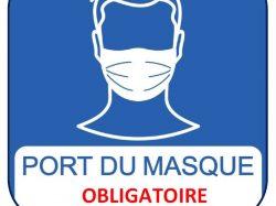 Port du masque obligatoire sur l'espace public