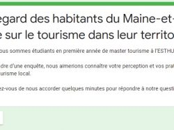 Enquête sur le tourisme en Maine-et-Loire
