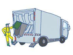 Collecte des poubelles, aux riverains rue Maurice Ulm, allée du Chemin bleu, rue de la Forge