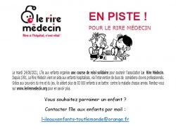 """L'île aux enfants : soutien à l'association """"Rire Médecin"""""""
